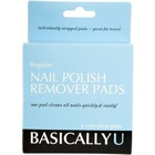 Basically U Acetone Nail Polish Remover Pads 6 ct.