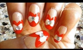 Cute Sweet Heart manicure | Valentines day nails