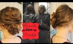 Soft, Romantic Bun Updo Hair Tutorial For Valentines Day or Special Dates/ Long to Medium Hairstyles