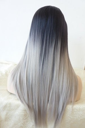 silver or ombre hair beautylish
