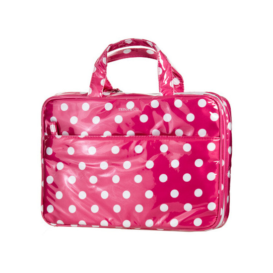 Trina Polka Dot Cosmetic Bag Pink Weekender Beautylish