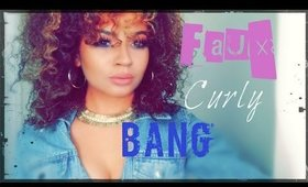 How To:  Faux Curly Bangs (Fake Curly Bangs)