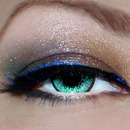Smokey Eye With Blue, Purple, And Copper.