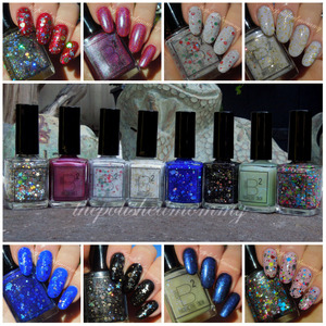 Swatches and review up on my blog>>> http://www.thepolishedmommy.com/2013/12/b-squared-christmas-and-new-year-set.html