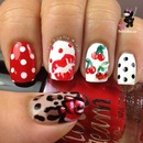 Pin Up Inspired nails