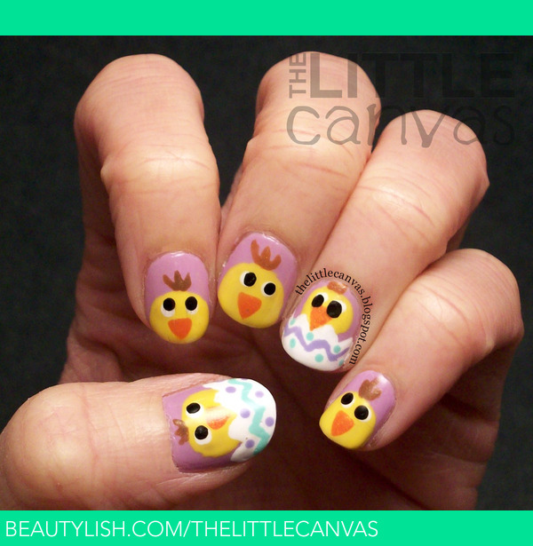 easter chick nail designs