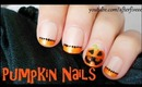 Halloween Pumpkin Nails