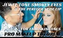 HOW TO BLEND JEWEL TONE SMOKEY EYES & FIND THE PERFECT NUDE LIP FOR FAIR SKINTONES- karma33