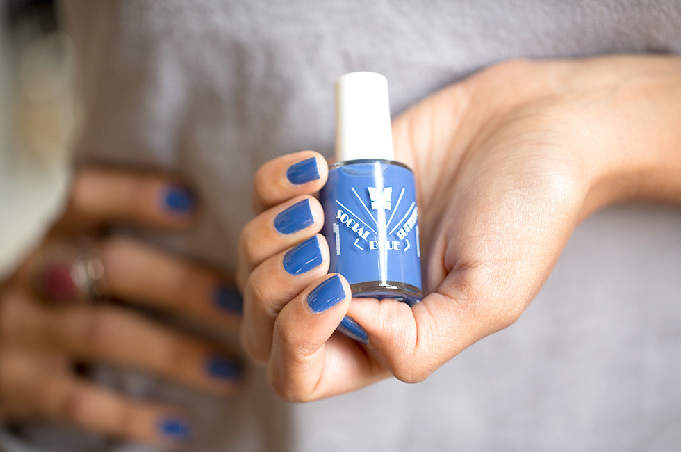 Facebook Nail Polish in Blue