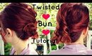 Quick and Easy Last Minute Twisted Low Bun|Hairstyle for Long to Medium Lengeth Hair