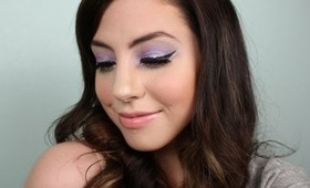 Katy Perry Inspired Purple Glitter Eye Makeup Tutorial !