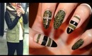 Fashion Inspired Nails: Leather & Khaki