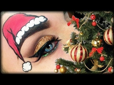 funny christmas makeup tutorial 2013 trucco natale 2013
