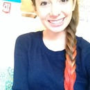 Fishtail braid with red