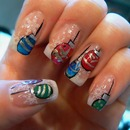 Christmas Ornaments- Opi / Konad / China Glaze/ Nubar