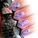 Icing Splatter nail polish - Milky Way