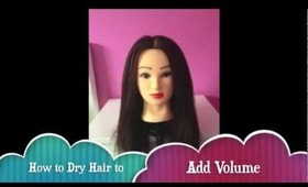 how to add volume to straightened hair