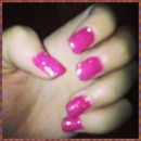 Pink glittery girly nails