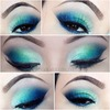 Blue and Green Spring Makeup