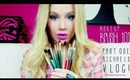 Makeup Brush 101 - Part 1: The Basics, My Art Store Brushes + Michaels VLOG!