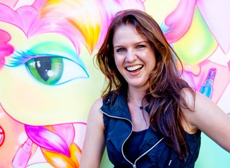 Beautylish writer Kit Rich at the Beautylish/IMATS LA event