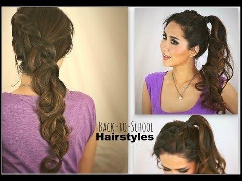 2 Cute School Hairstyles Hair Tutorial For Medium Long Hair