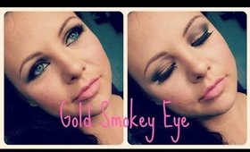 Get Ready With Me. Gold Smokey Eye