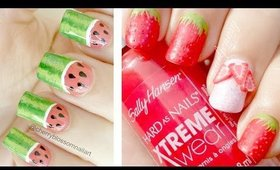 Textured Strawberry Nails! Collab with Cherry Blossom Nail Art