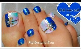 Beautiful Marble Toenail Art | Diseño de Uñas de Pies ♥