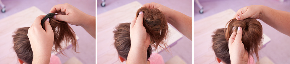 How To Do A Sock Bun - Tuck And Roll