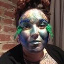 Underwater theme fashion show makeup