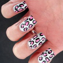 Holographic Pink Leopard Print