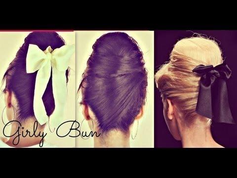 Girly Hair Buns For Long Hair Tutorial 60s Everyday Sock Bun