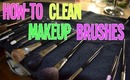 CHEAP and QUICK way to clean makeup brushes!