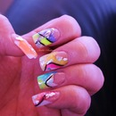 Summer colours  nail  art