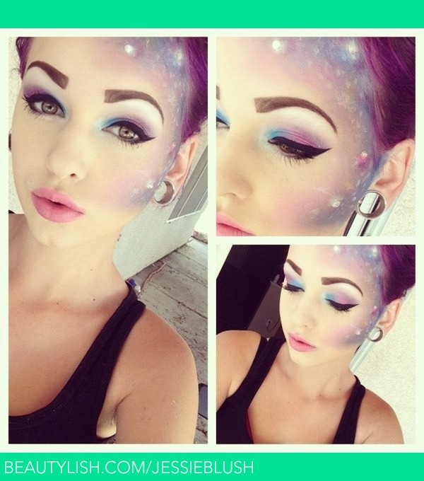 Galaxy makeup | Jessica B.'s (JessieBlush) Photo | Beautylish