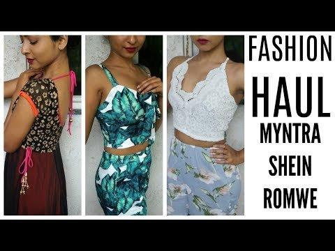 9a667feef8 FASHION Try-On HAUL | MYNTRA, SHEIN, ROMWE, etc | Stacey Castanha ...