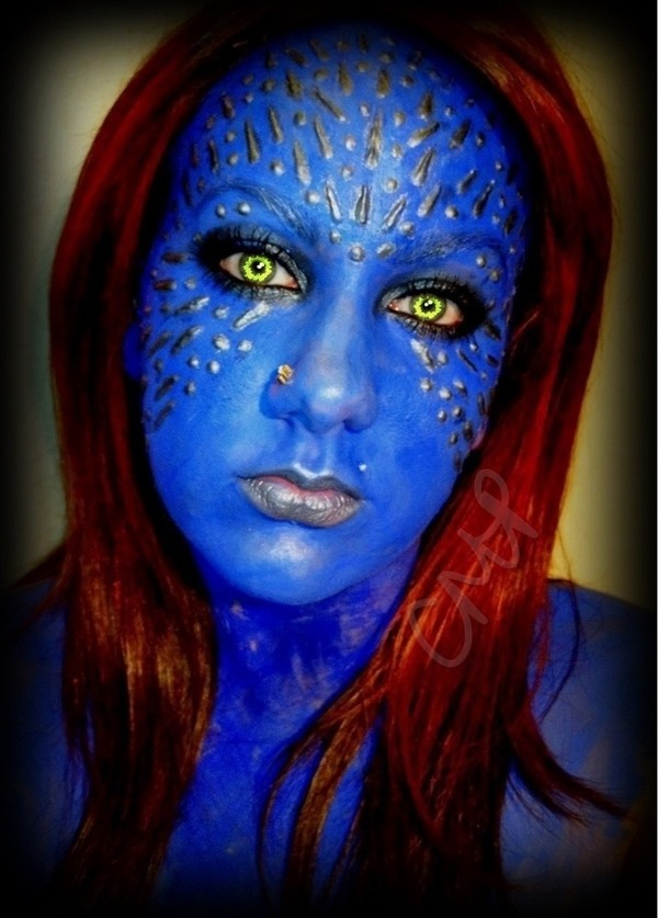 Mystique From X Men on flat x f u