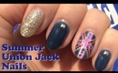 Summer Olympics Union Jack Gel Nails
