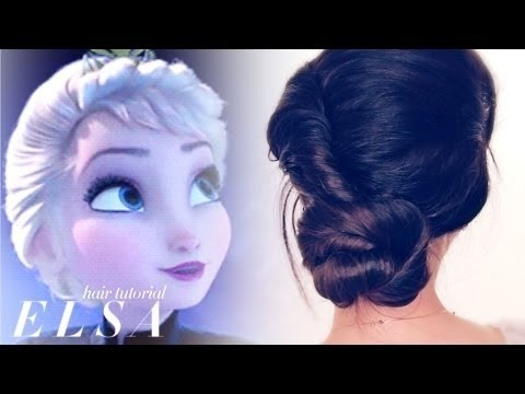★frozen Romanticized Elsa Coronation Hair Tutorial Cute