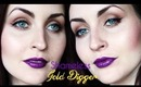 Shameless Gold Digger: Purple Lips!