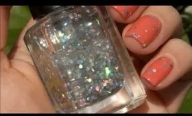 Barry M Nail Paint, 244 Hologram feat. Flormar Nail Enamel, 408