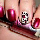 Fall Leopard Print Nails