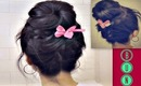 ★KOREAN SOCK BUN | UPSIDE DOWN BRAIDED BUN TUTORIAL FOR MEDIUM LONG HAIR | LACE BRAID HAIRSTYLES