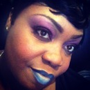 Purple passion with accented bluish lips