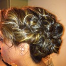 Formal updo side view