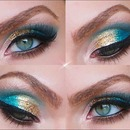 Colorful Glittery Make Up