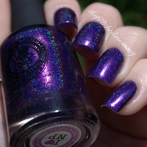 Swatch and review of ILNP Purple Plasma .. http://www.thepolishedmommy.com/2014/07/ilnp-purple-plasma.html