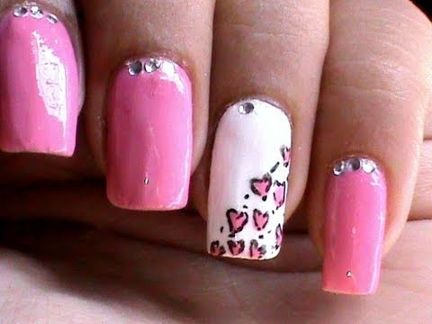 Heart Leopard Nail Art Tutorial Easy Nail Designs For Beginners Cute
