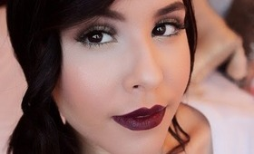 How To: Wearable BOLD/Vampy fall lips! | NellysLookBook